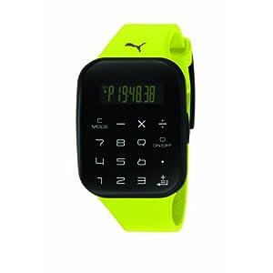 Puma Time PU910531003 – Reloj Digital de Cuarzo para Hombre con Correa de plástico, Color Amarillo
