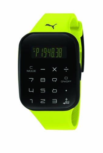 PUMA Unisex PU910531003 Calculus Yellow and Black Digital Watch ()