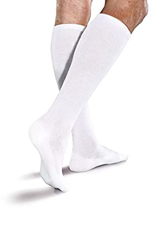 1912c39f31c Image Unavailable. Image not available for. Color  Core-Spun Mild (15-20mmHg)  Graduated Compression Support Knee High Socks (