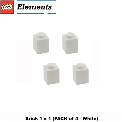 Lego Parts: Brick 1 x 1 (PACK of 4 - White)