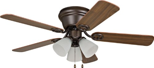 Craftmade Classic Ceiling Fan Light (Craftmade WC42ORB5C3F Wyman Oil Rubbed Bronze Flush Mount 42