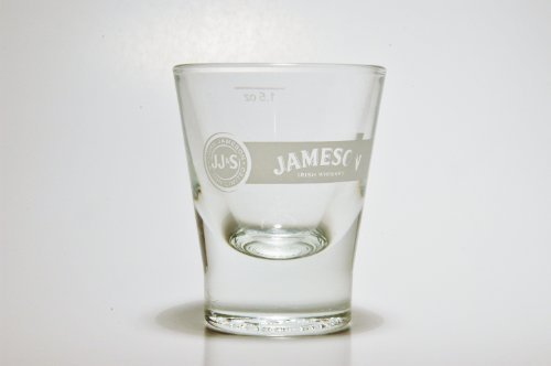 Jameson Professional Series Shot Glass Round Base Etched Logo - Logo Etched Glass