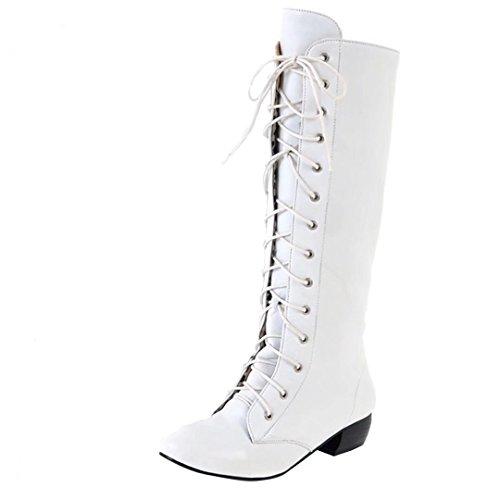 White Women's Boot AIYOUMEI Women's Classic AIYOUMEI qxXE6z