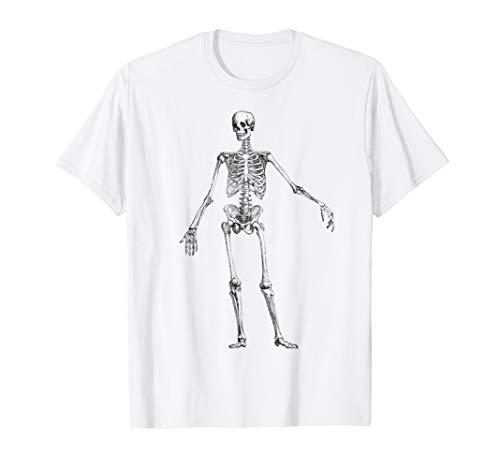 Skeleton Vintage Old School Drawing Tee Halloween Party Idea