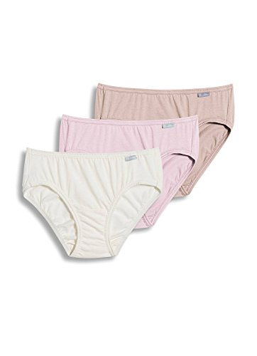 (Jockey Women's Underwear Elance Bikini - 3 Pack, white/pale cosmetic/pink shadow,)