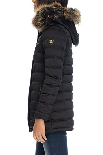 Real Fur Ciesse Piumini Nero Jacket Julia Donna aREPnq