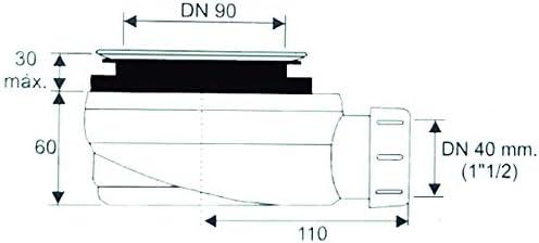 PLATO DE DUCHA DE RESINA PIZARRA CARGA MINERALES GEL COAT 70x150 cm Blanco RAL 9003