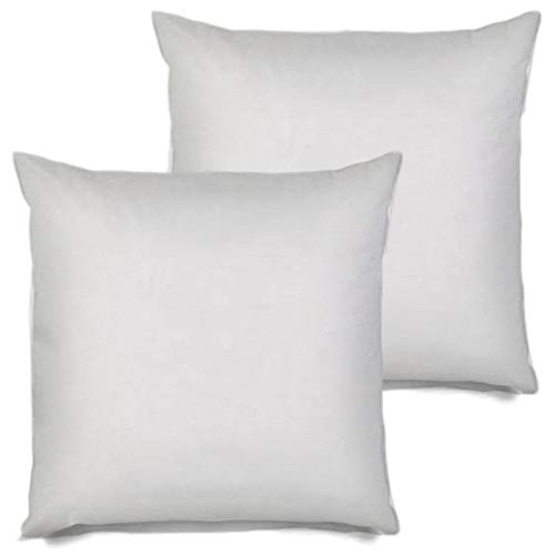 (MSD 2 Pack Pillow Insert 28x28 Hypoallergenic Square Form Sham Stuffer Standard White Polyester Decorative Euro Throw Pillow Inserts for Sofa Bed - Made in USA (Set of 2) - Machine Washable and Dry)