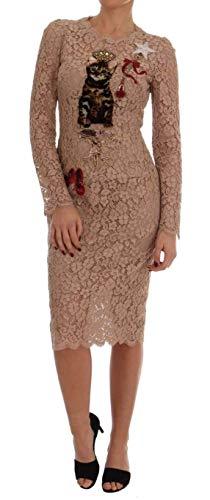 Pink Dolce Gabbana Dress - Dolce & Gabbana Nude Pink Crystal Lace Dress
