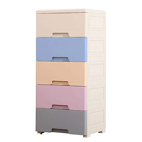 SHIJIAN Really Useful Drawer Tower Five Floors Clothing Storage Box Hall Sundries Finishing Cabinet Children's Toy Finishing Box, Multi-Function Household Locker 39 32 85CM (Color : Color B)