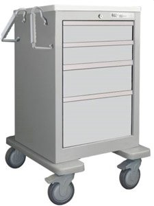 - MSEC by Waterloo, QUICK SHIP PROGRAM, 4 Drawer Slim Mini Economy Cart, Gray