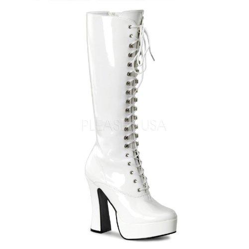 Pleaser Electra-2020 - Sexy Komfort Plateau-Stiefel High Heels 36-48, Größe:EU-40/41 / US-10 / UK-7