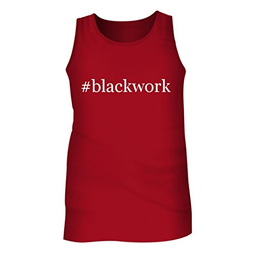 Tracy Gifts #blackwork - Men's Hashtag Adult Tank Top, Red, (Blackwork Shirt)