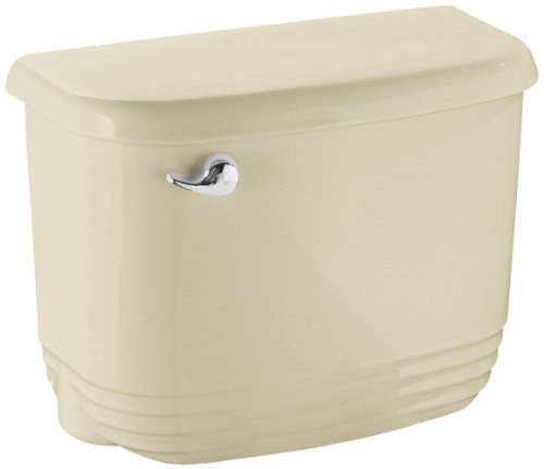 STERLING 404522-U-47 Riverton Insulated Tank with Chrome Trip Lever, Almond