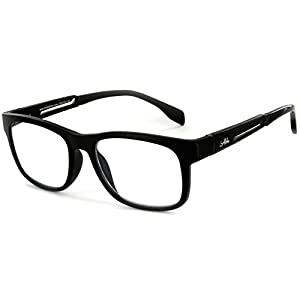 Alumni RX06 Optical-Quality Reading Glasses with RX-Able Aluminum Frames for Men (Black +2.00)