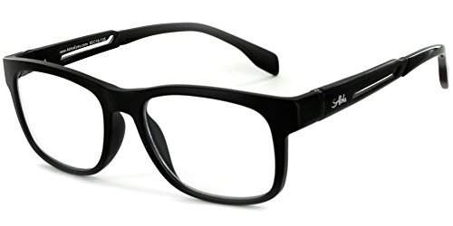 Alumni RX06 Optical-Quality Reading Glasses with RX-Able Aluminum Frames for Men (Black - Rx Glasses Mens