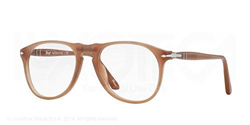 fc88cdbe9c Persol PO9649V Eyeglasses-1014 Ambra-50mm  Amazon.in  Clothing ...