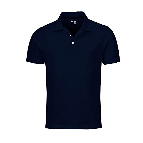 (GAP Men's Solid Colors Custom Fit Polo Mesh Shirt (Navy, X-Large))