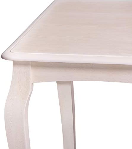 home, kitchen, furniture, kitchen, dining room furniture,  table, chair sets 7 discount Furgle Dining Set Rectangular Rubber Wood Kitchen Table in USA