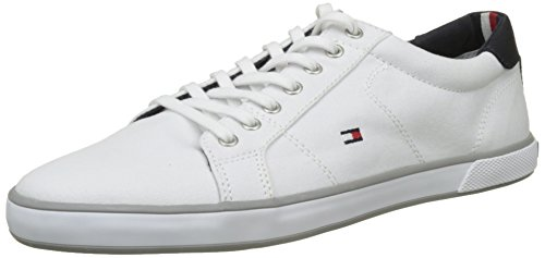 Tommy Hilfiger H2285arlow 1d, Zapatillas para Hombre Blanco (White)