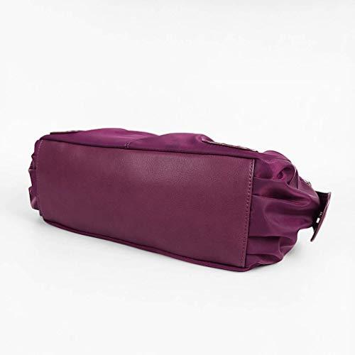 Purple Donglu Bolso color Nylon 5 Colores Capacidad Impermeable Metro Gran Purple Tamaño Bolso De qUqrg6xwv