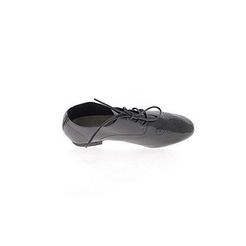 Richelieux negro de encaje de 2 cm de tacón abierto superior