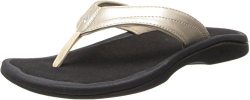 OLUKAI Women's Ohana Sandal, Bubbly/Black, 11 M US