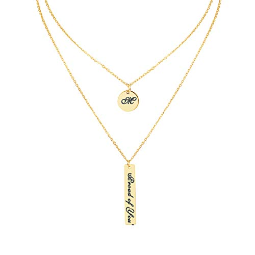 (ShineSand Custom Name Necklace Personalized, 18K Gold Plated Customized Nameplate Pendant Jewelry Gift for Women)