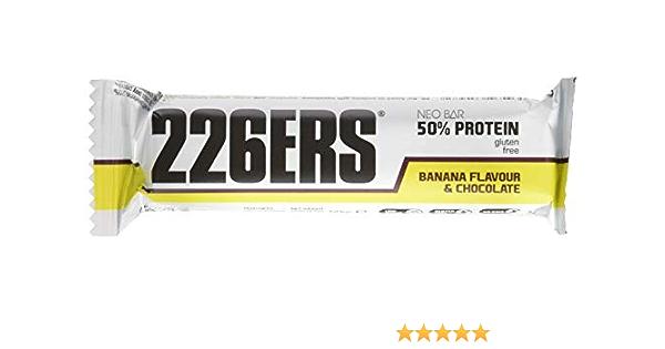 226ERS Neo Bar, Barrita Recuperadora con 50% de Proteína Sin Gluten, Plátano - 24 barras
