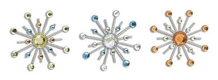 Karen Foster Design Sparkle Burst Brads Embellishments, 6 Red and Blue 01839