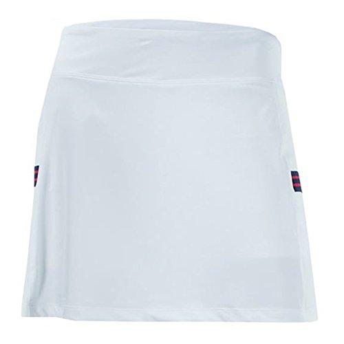 Fila Women's Heritage Tennis Skort, White, (Fila Match)
