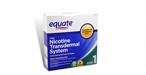 Equate – Step One, Nicotine Transdermal System, Stop Smoking Aid, 21 mg, 7 Patches