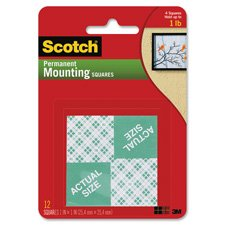 3M COMPANY MOUNTING SQUARES REMOVABLE 16 1IN