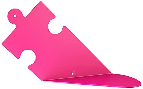 Bolis Italia BA2B015AU2S1 - Set di 2 mensole Puzzle in acciaio, 25 x 15 x 13 cm, fucsia