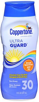 (Coppertone UltraGuard Sunscreen Lotion SPF 30 - 8 oz, Pack of 5)