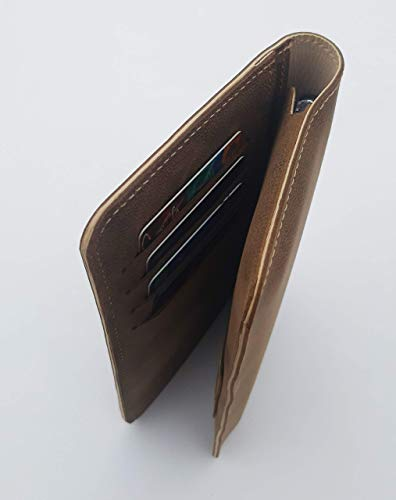 Chalk Factory Genuine Leather Mobile Wallet Case with Card Holder for Xiaomi Redmi 9 Power Mobile Phone 2021 July Chalk Factory leather case FLD Series continues to look better over time and with use as it develops its own unique patina. Made in India ! The Chalk factory M1 Case for Xiaomi Redmi 9 Power is a highly functional yet attractive case. The premium leather gives a sophisticated feel that provides a versatile look; it fits in with your casual jeans but doesn't look out of place in a professional business environment Made with Pure Leather on exterior, Lined with soft leather suede lining on inside. Only leather all around. This is the best cover money can buy for your phone.