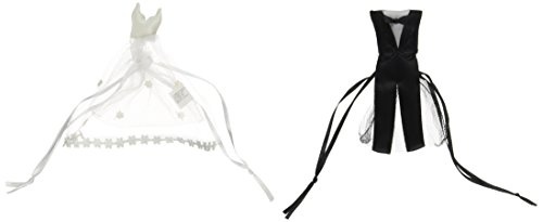 Fun Express FX IN-14/304 24 Bride and Groom Satin and Tulle Wedding Party Favor Bag (Wedding Party Favor Tulle)
