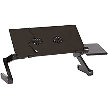 Amazon Com Icraze Adjustable Vented Laptop Table Laptop