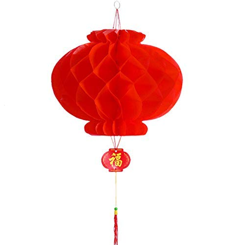 (10 Pcs New Year Lanterns Red Lanterns 7.9