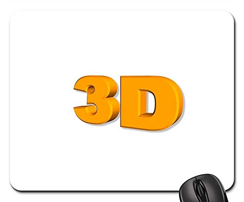 Mouse Pads - Font 3D Letter Number White Background Digits