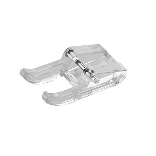 Tinksky Domestic Sewing Machine Open Toe Plastic Satin Presser Foot for Brother Singer Janome Toyota