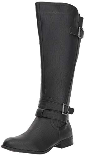LifeStride Women's Francesca Wide Calf Tall Shaft Boot Knee High, Black wc, 8 M US