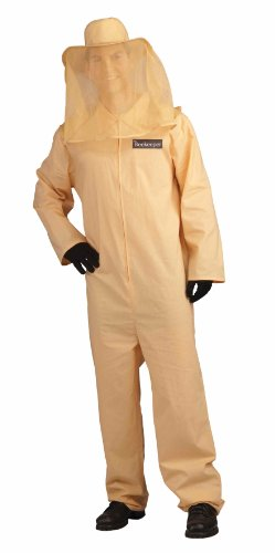 Unisex - Adult Bee Keeper Costume, Beige, One Size ()