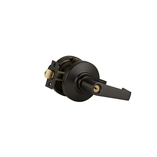 Series Storeroom Lock - Schlage commercial AL80SAT613 AL Series Grade 2 Cylindrical Lock, Storeroom Function, Saturn Lever Design, Oil Rubbed Bronze Finish