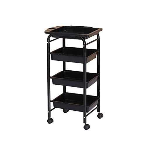 Socean Beauty Tool Cart - Multi-Function Storage cart, Retro Style, Five-Layer Large Capacity Detachable, Super Load-Bearing.