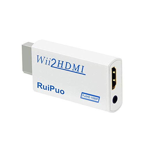 (Wii to HDMI Converter Output Video Audio Adapter, with 3.5mm Audio Video Output Supports All Wii Display Modes, Best Compatibility and Stability for Nintendo (Wii to HDMI))