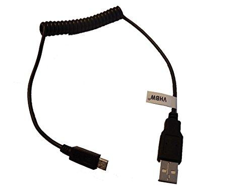 vhbw USB Kabel auf Micro USB flexibel für TomTom Start 25 M Europe Traffic, Start 60 M Europe Traffic, Start 60 M Europe Traffic
