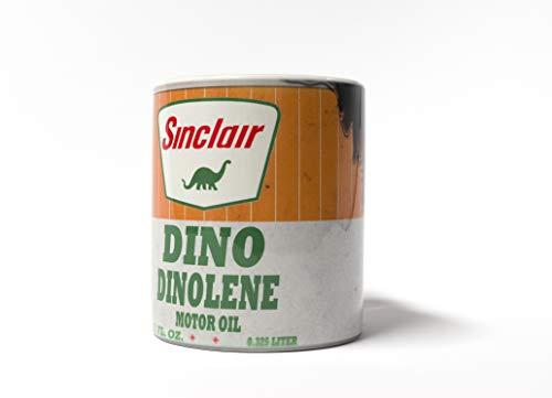 Sinclair Dino Dinolene Motor Oil Can Lube 11 oz. Coffee Mug Antique Collector