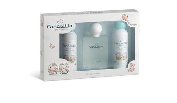 Estuche para el bebe de colonia 100ml, jabón liquido 150ml y leche corporal 150ml sin alcohol Canastilla: Amazon.es: Bebé