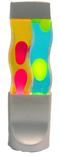 Creative Motion Twin Motion Lamp, Yellow Wax/Blue Liquid and Red Wax/Yellow Liquid